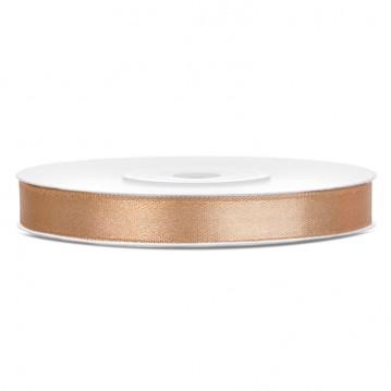 Satinbånd 6mm x 25m Guld - Glat silkelook