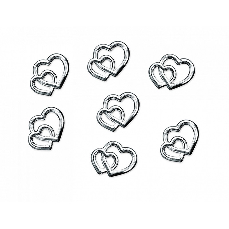 Billede af Hjerter 15 g i Sølv look bordpynt