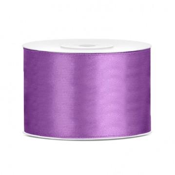 Satinbånd 50mm x 25m Lavendel - Glat silkelook