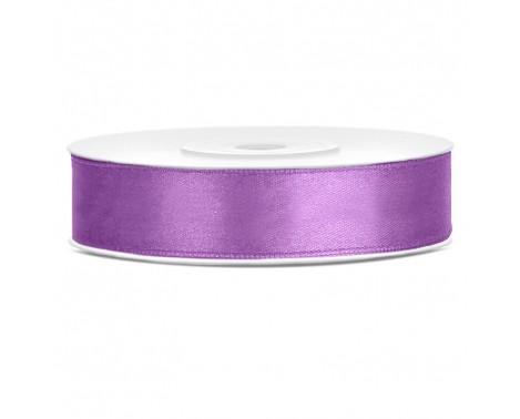Satinbånd 12mm x 25m Lavendel - Glat silkelook
