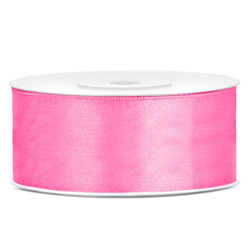 Billede af Satinbånd 25mm x 25m Pink - Glat silkelook