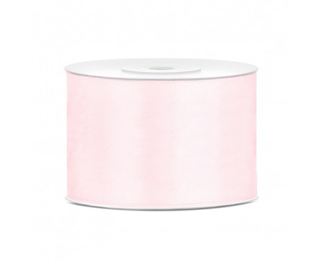 Satinbånd 50mm x 25m Lys Rosa - Glat silkelook