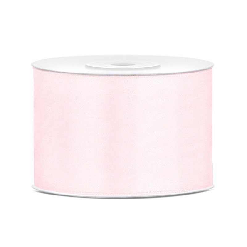 Billede af Satinbånd 50mm x 25m Lys Rosa - Glat silkelook