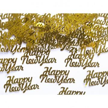 Konfetti Happy New Year Guld