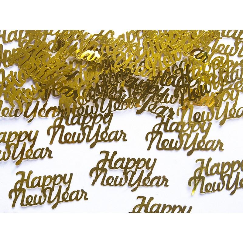 Image of   Konfetti Happy New Year Guld