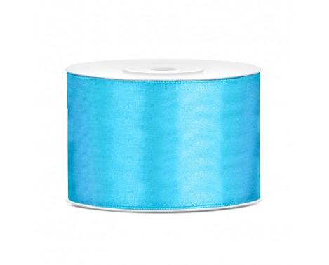 Satinbånd 50mm x 25m Himmelblå - Glat silkelook