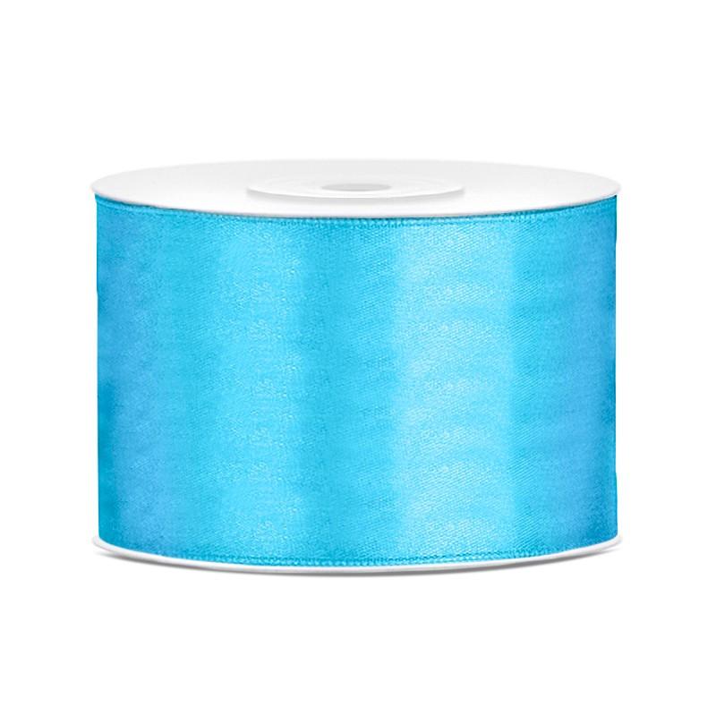 Billede af Satinbånd 50mm x 25m Himmelblå - Glat silkelook