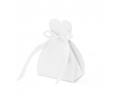 10 stk. Favor æske som kjole - til bryllup eller Konfirmation