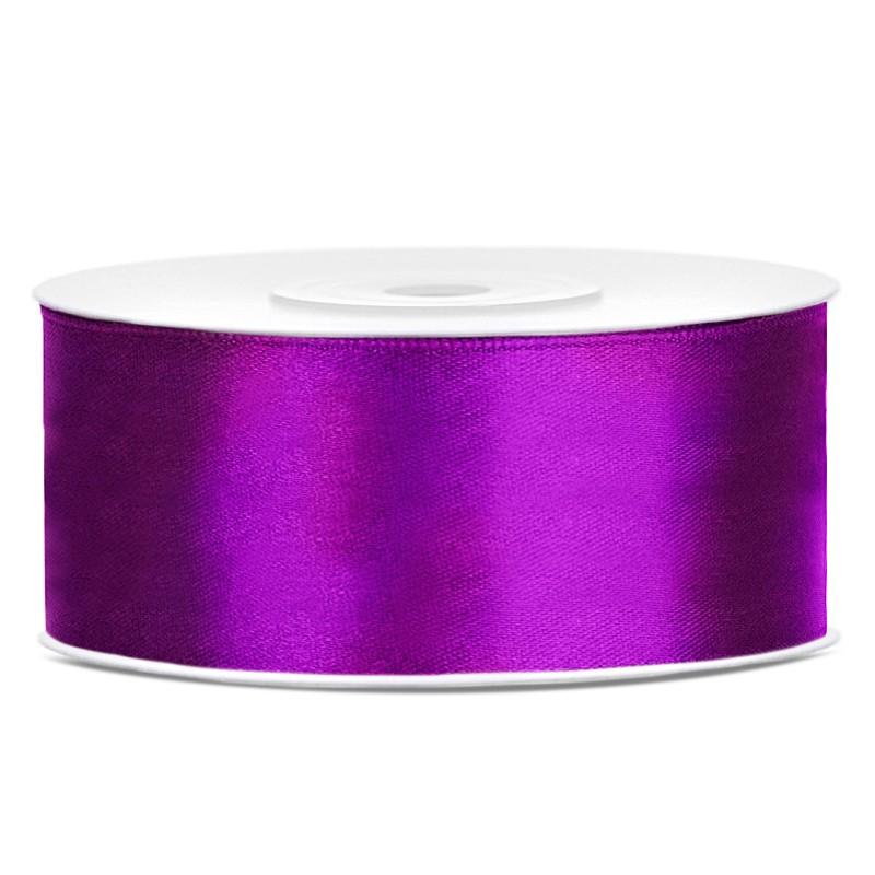 Billede af Satinbånd 25mm x 25m Mørke Lilla - Glat silkelook