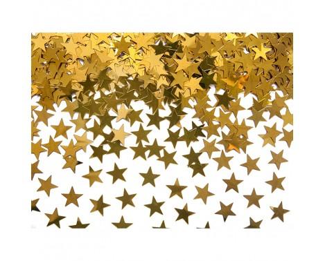 Stjerner guld 10 mm. 30 gr. - Konfetti