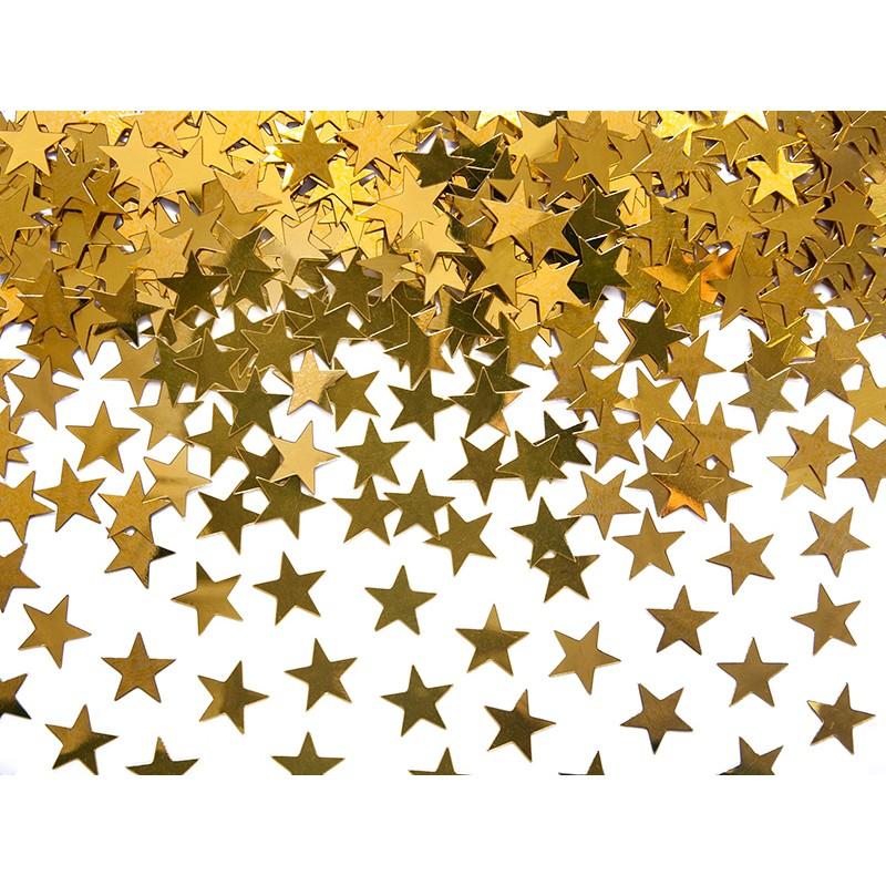 Billede af Stjerner guld 10 mm. 30 gr. - Konfetti