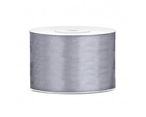 Satinbånd 50mm x 25m Grå - Glat silkelook