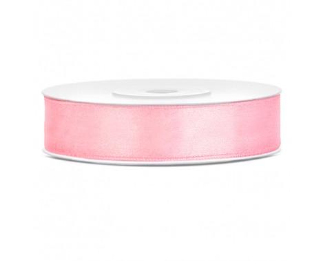 Satinbånd 12mm x 25m Lys Pink - Glat silkelook