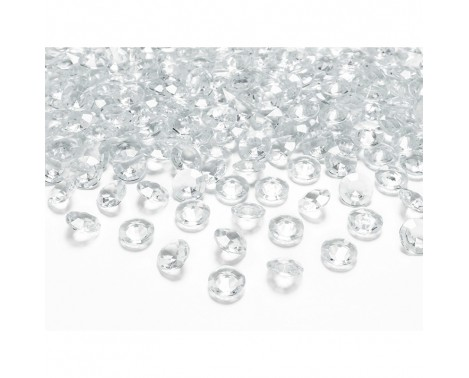 Pynte diamanter 100 stk. Klar 12 mm.