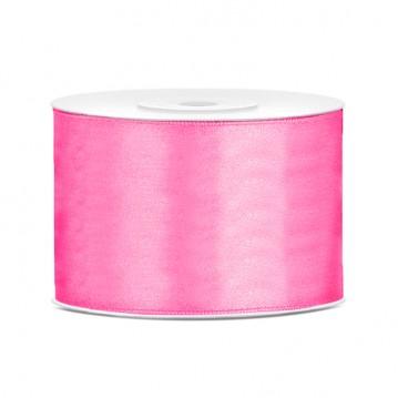 Satinbånd 50mm x 25m Pink - Glat silkelook