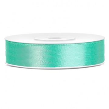 Satinbånd 12mm x 25m Mintgrøn - Glat silkelook