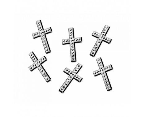 Kors i sølv 25 stk. 27mm. - Konfetti