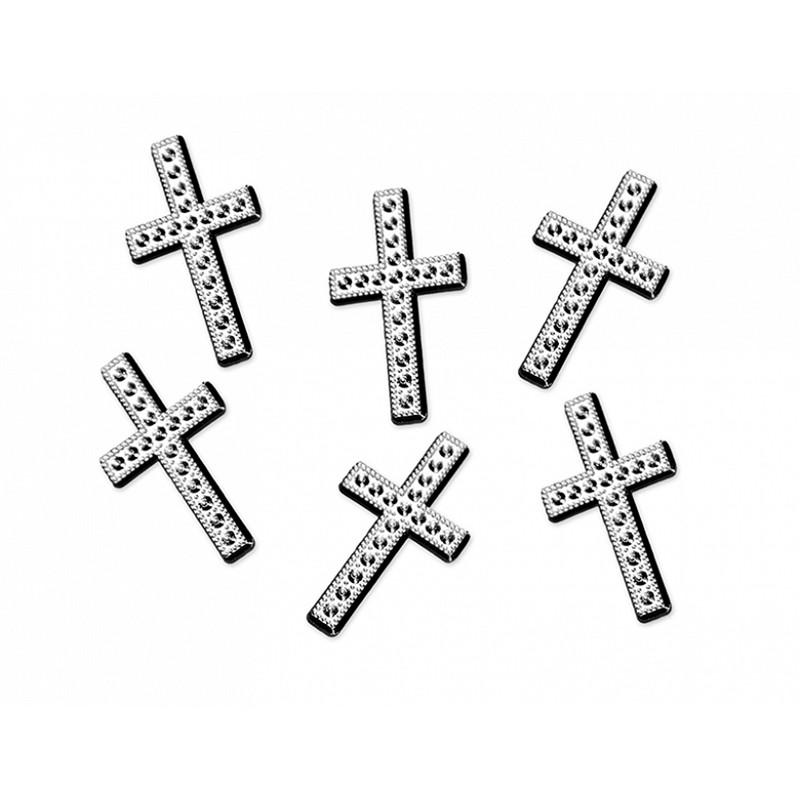 Billede af Kors i sølv 25 stk. 27mm. - Konfetti