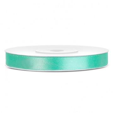 Satinbånd 6mm x 25m Mintgrøn - Glat silkelook