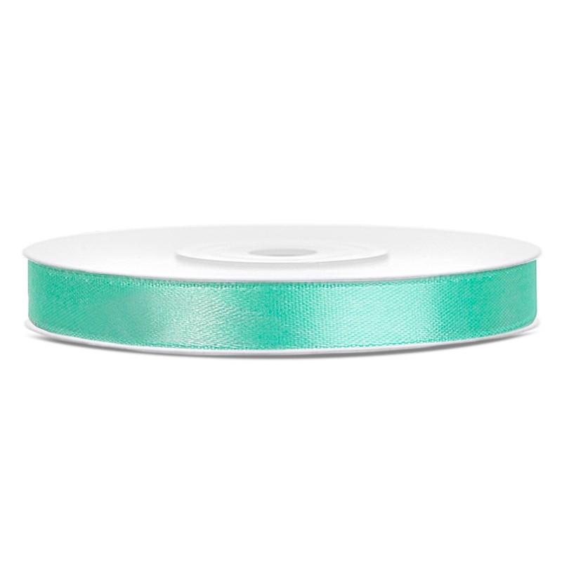 Billede af Satinbånd 6mm x 25m Mintgrøn - Glat silkelook