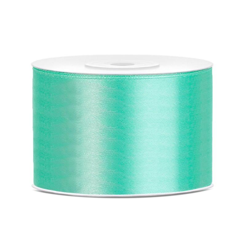 Satinbånd 50mm x 25m Mintgrøn - Glat silkelook
