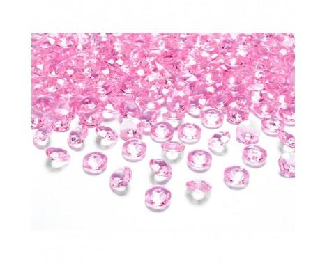 Pynte diamanter 100 stk. Lys Pink 12mm.