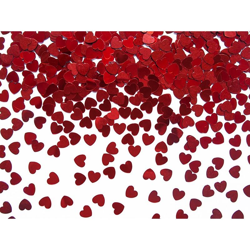 Billede af Røde Hjerter 5 mm. 30 gr. - Konfetti