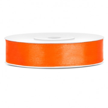 Satinbånd 12mm x 25m Orange - Glat silkelook