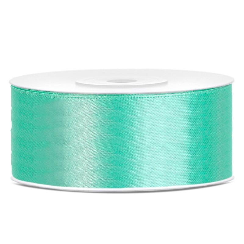 Satinbånd 25mm x 25m Mintgrøn - Glat silkelook