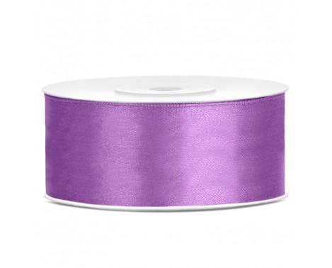 Satinbånd 25mm x 25m Lavendel - Glat silkelook