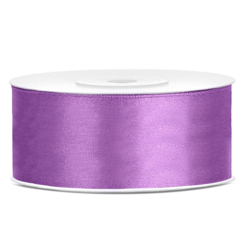Billede af Satinbånd 25mm x 25m Lavendel - Glat silkelook