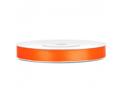 Satinbånd 6mm x 25m Orange - Glat silkelook