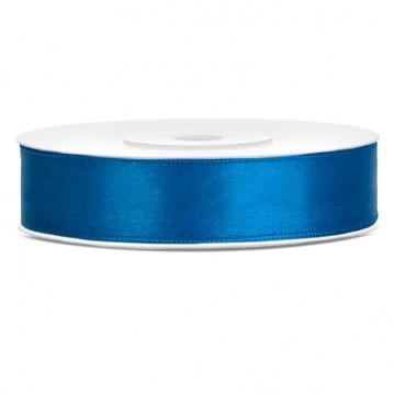 Satinbånd 12mm x 25m Blå - Glat silkelook