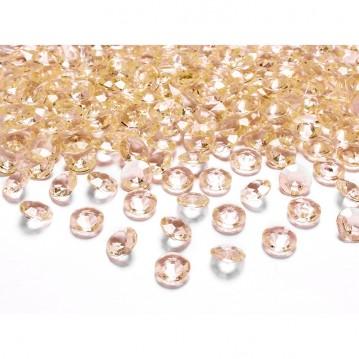 Pynte diamanter 100 stk. Guld 12mm.