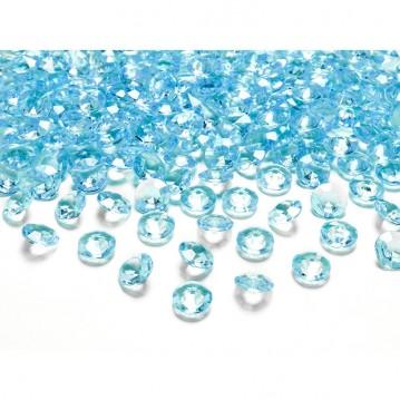Pynte diamanter 100 stk. Turkis 12mm.