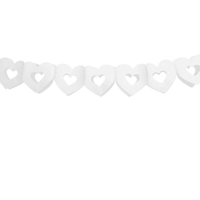 Billede af 1 stk bryllups banner med hjerter