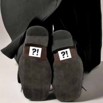 ?!'' Klistermærker til Gommens sko 2 stk