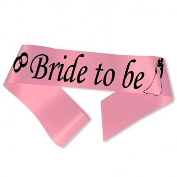 Bride to Be ordensbånd i pink