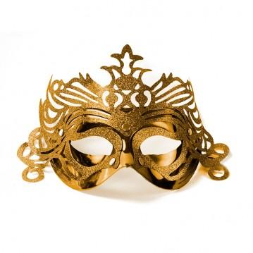 Maske Guld med mønster