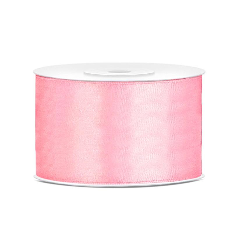 Billede af Satinbånd 38mm x 25m Lys Pink - Glat silkelook