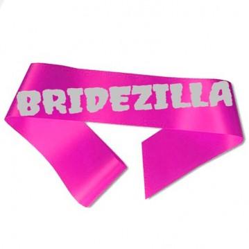 Bridezilla Ordensbånd fuchsia