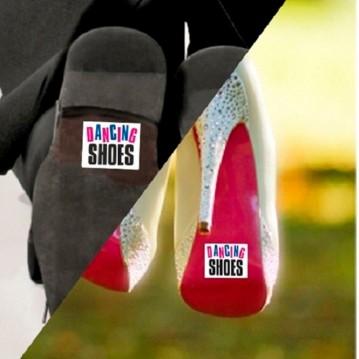 DANCING SHOES'' Klistermærker til Gommens sko 2 stk