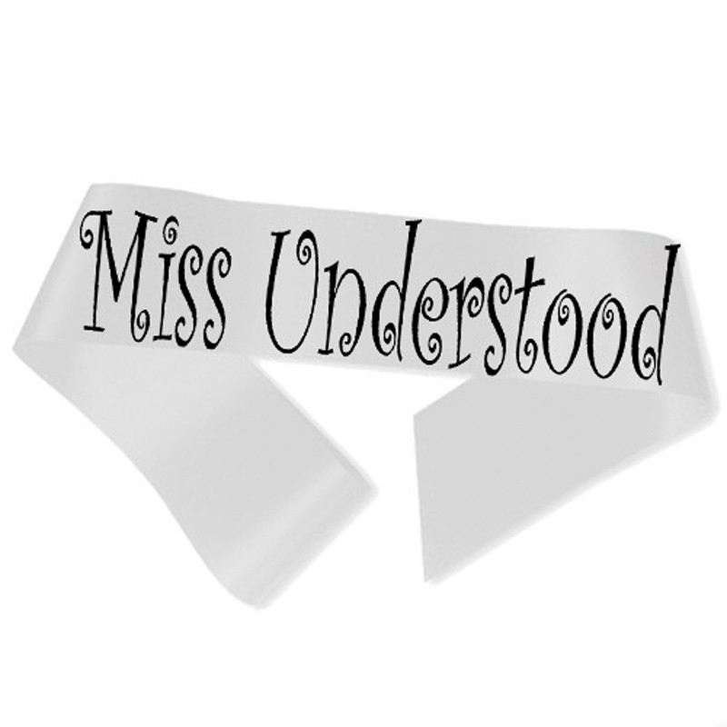 Billede af Miss Understood Ordensbånd Hvid