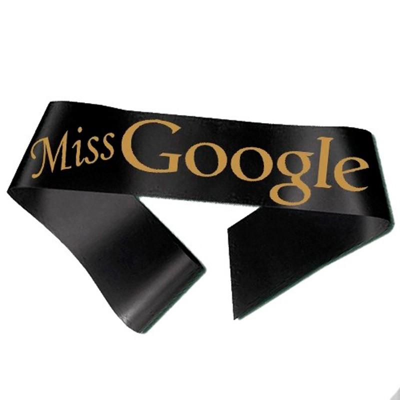 Miss Google Ordensbånd Sort
