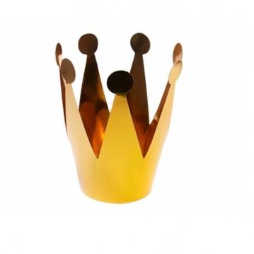Guld konge krone - 3 stk.