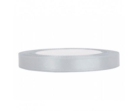 Satinbånd 6mm x 25m Sølv - Glat silkelook