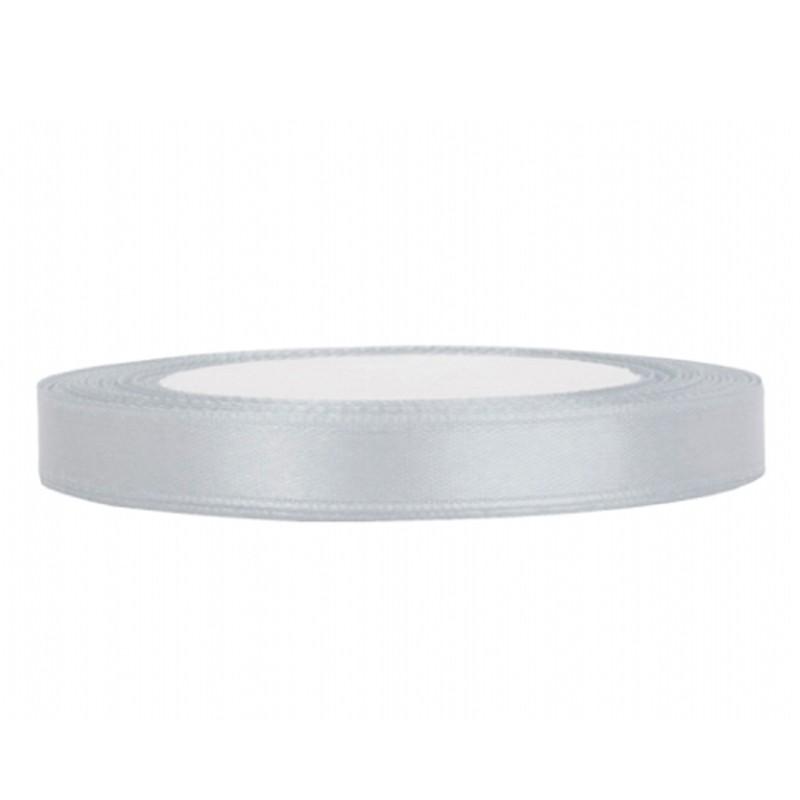 Billede af Satinbånd 6mm x 25m Sølv - Glat silkelook