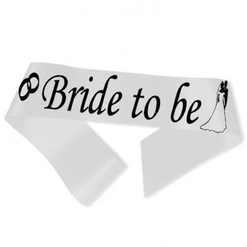 Bride to Be ordensbånd i hvid