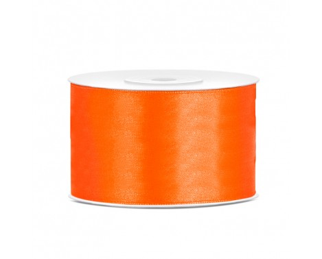 Satinbånd 38mm x 25m Orange - Glat silkelook