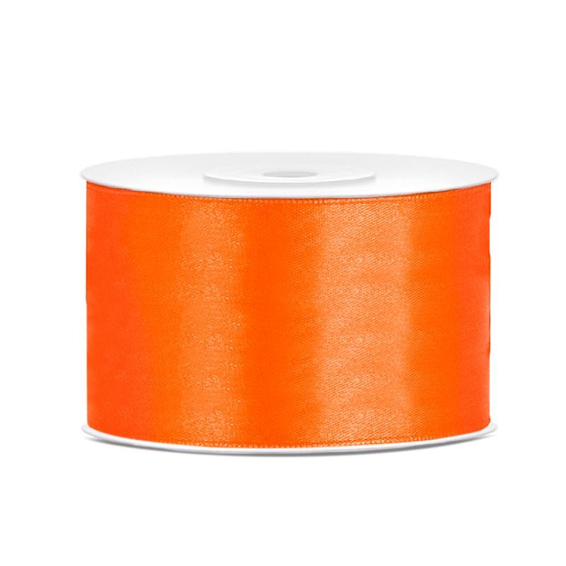 Billede af Satinbånd 38mm x 25m Orange - Glat silkelook